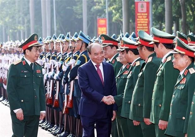 Premier de Vietnam asiste al acto por el aniversario 75 del Estado Mayor General hinh anh 1