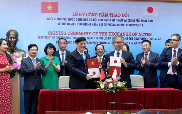 Japon dona casi 17 millones de dolares para la lucha contra COVID-19 en Vietnam hinh anh 1