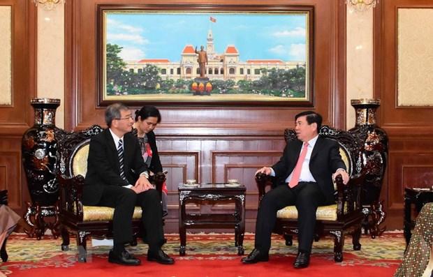 Fortalecen relaciones entre Ciudad Ho Chi Minh y localidades japonesas hinh anh 1