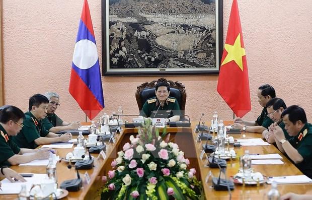 Vietnam y Laos fortalecen cooperacion en defensa hinh anh 1