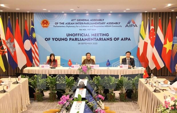 Destacan papel de jovenes parlamentarios en construccion de Comunidad de ASEAN hinh anh 1