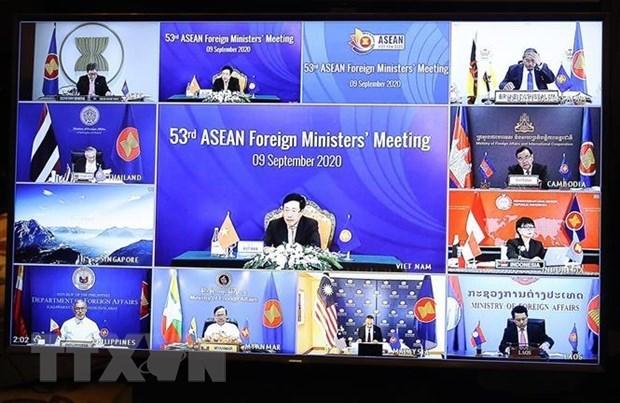 Celebran 53 Reunion de Ministros de Relaciones Exteriores de la ASEAN hinh anh 1