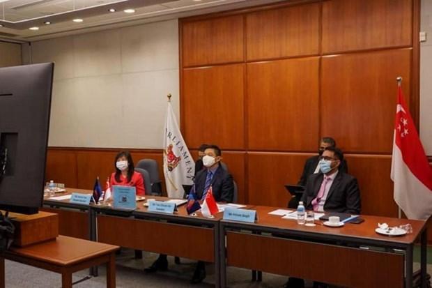 Presidente de Parlamento singapurense propone impulsar papel de AIPA en lucha antiepidemico hinh anh 1