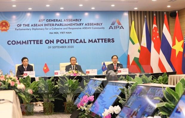 Efectuan reunion del Comite de Asuntos Politicos de la AIPA hinh anh 1