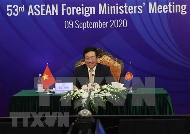 Vicepremier vietnamita preside la 27 Conferencia del Consejo Coordinador de la ASEAN hinh anh 1