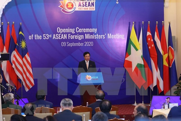 Inauguran 53 Reunion de Ministros de Relaciones Exteriores de ASEAN y citas anexas hinh anh 1