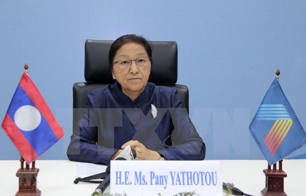Presidenta del Parlamento laosiano valora papel de Vietnam en la AIPA 41 hinh anh 1