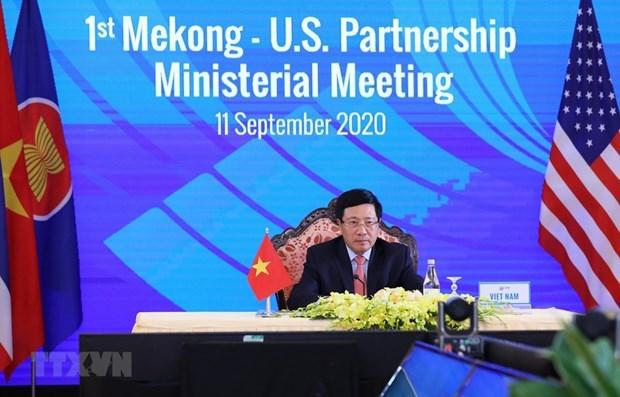 Celebran primera reunion ministerial de asociacion Mekong- Estados Unidos hinh anh 1