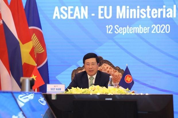 Intensifica ASEAN la cooperacion con Union Europea y la India hinh anh 1