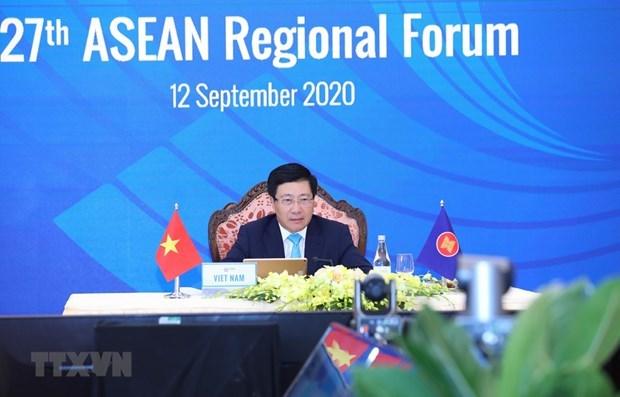 Celebran 27 Reunion del Foro Regional de la ASEAN hinh anh 1