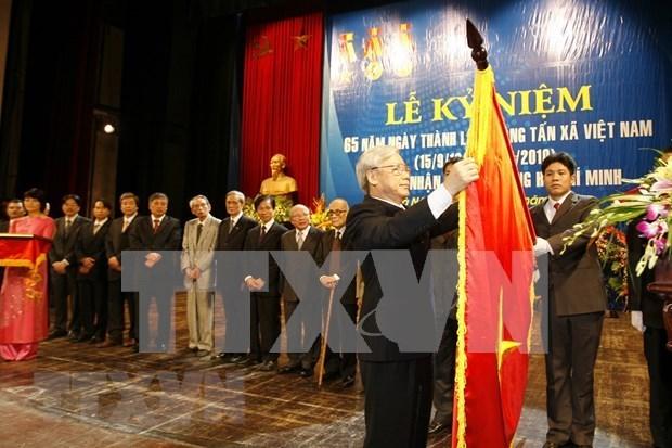 Maximo dirigente de Vietnam felicita a la VNA en su aniversario 75 de fundacion hinh anh 1
