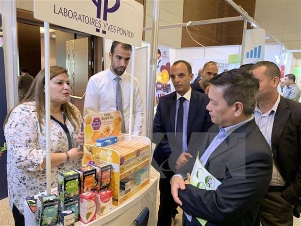 Empresas vietnamitas asisten a feria internacional de comercio en linea en Argelia hinh anh 1