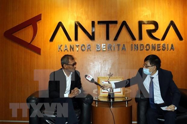 Agencia de noticias de Indonesia felicita a la VNA por el aniversario 75 de su fundacion hinh anh 1