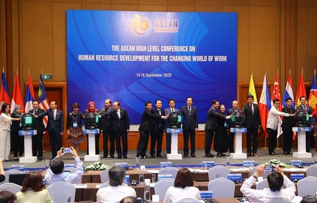 Sesiona conferencia ministerial de ASEAN sobre desarrollo de recursos humanos hinh anh 1