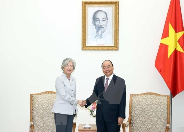 Premier vietnamita recibe a ministra de Relaciones Exteriores de Corea del Sur hinh anh 1