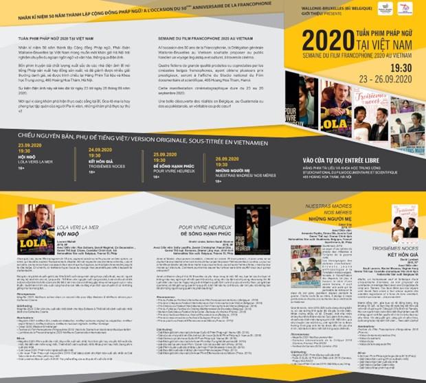 Ciclo de Cine Francofono 2020 se celebrara la proxima semana en Hanoi hinh anh 1