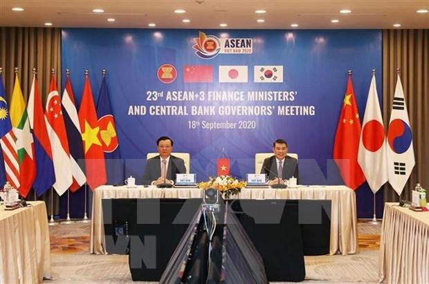 ASEAN y socios se comprometen a promover cooperacion financiera regional hinh anh 1