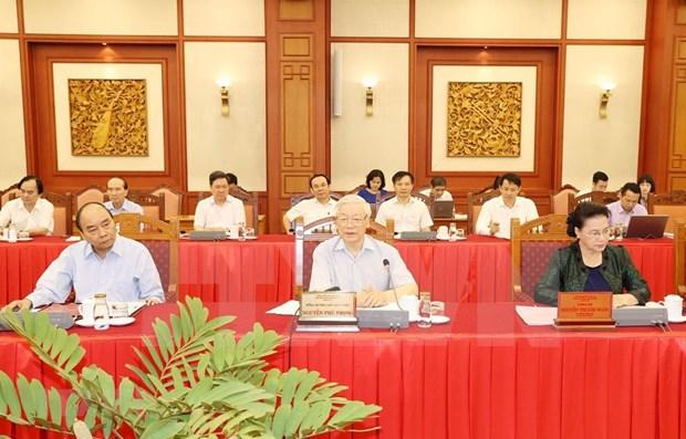 Maximo dirigente de Vietnam destaca preparativos por XVII Asamblea del Comite partidista en Hanoi hinh anh 1