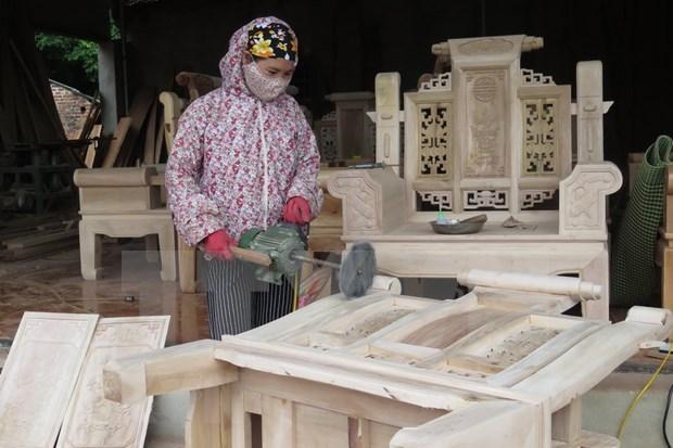 Buscan convertir a Vietnam en centro de produccion de articulos madereros de decoracion de interiores del mundo hinh anh 1