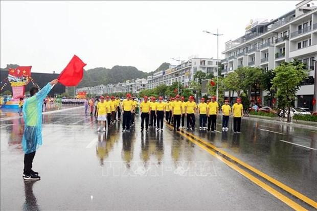 En Quang Ninh maraton por salud publica hinh anh 1