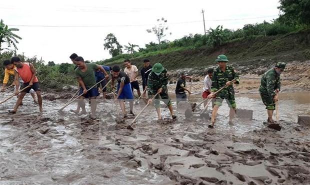 Cruz Roja de Vietnam brinda asistencia a afectados del tifon Noul hinh anh 1