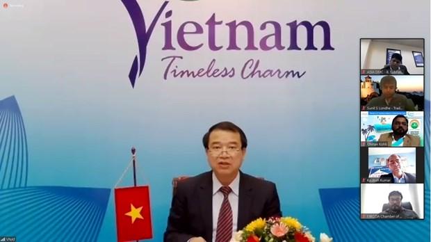 Vietnam e India intensifican cooperacion en turismo en periodo post-COVID-19 hinh anh 1