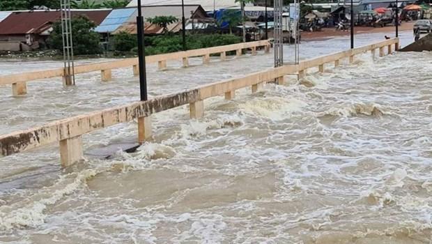 Inundaciones cobran la vida de al menos 11 personas en Camboya hinh anh 1