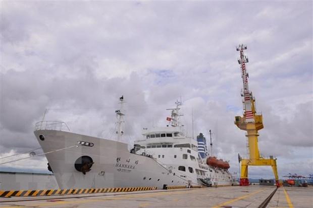 Universidad maritima vietnamita recibe buque escuela del Corea del Sur hinh anh 1