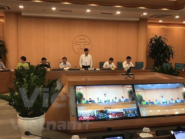 Hanoi intensifica monitoreo de cumplimiento de normas preventivas del COVID-19 hinh anh 1