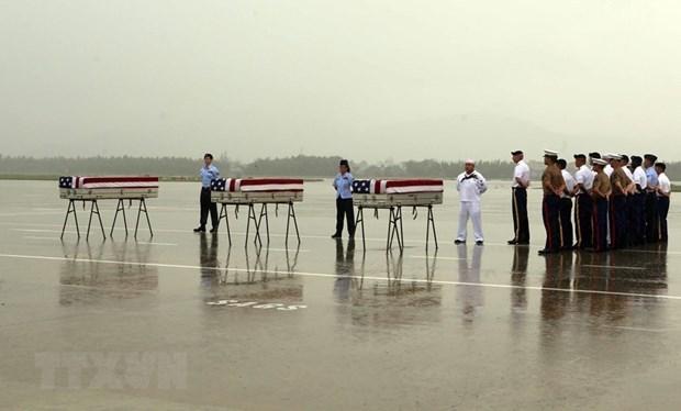 Efectuan ceremonia de repatriacion de restos de militares estadounidenses hinh anh 1