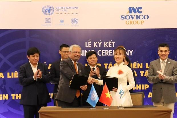 Grupo vietnamita de SOVICO se convierte en socio estrategico de ONU hinh anh 1