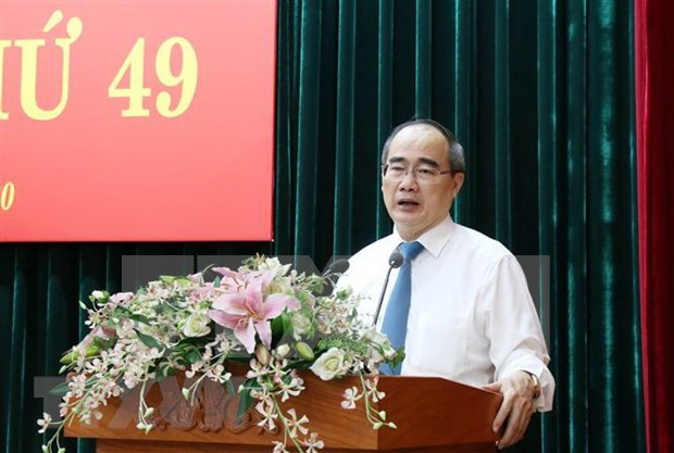 Instancia partidista de Ciudad Ho Chi Minh traza orientaciones para futuro desarrollo municipal hinh anh 1