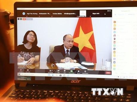 Webinar celebra 45 aniversario de las relaciones diplomaticas entre Vietnam y Alemania hinh anh 1