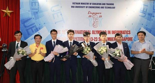 Gana Vietnam medalla de oro en Olimpiada Internacional de Informatica 2020 hinh anh 1
