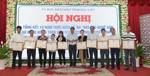 Provincia vietnamita planea brindar capacitacion vocacional a 120 mil trabajadores rurales para 2025 hinh anh 1