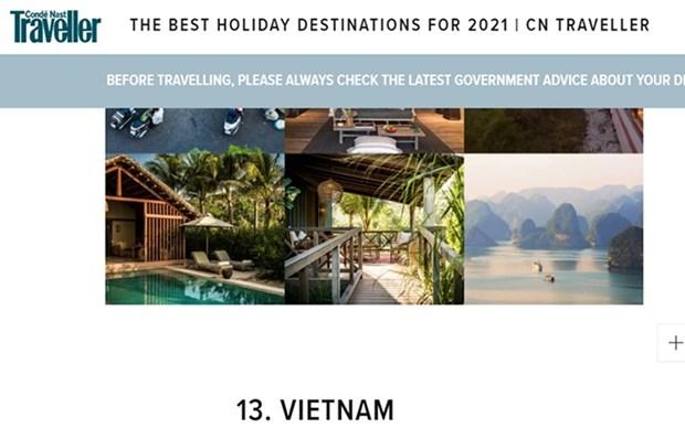 Vietnam entre sugerencias de viaje de la revista CN Traveler hinh anh 1