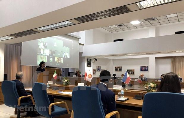 Refuerzan cooperacion entre ASEAN e Italia hinh anh 1