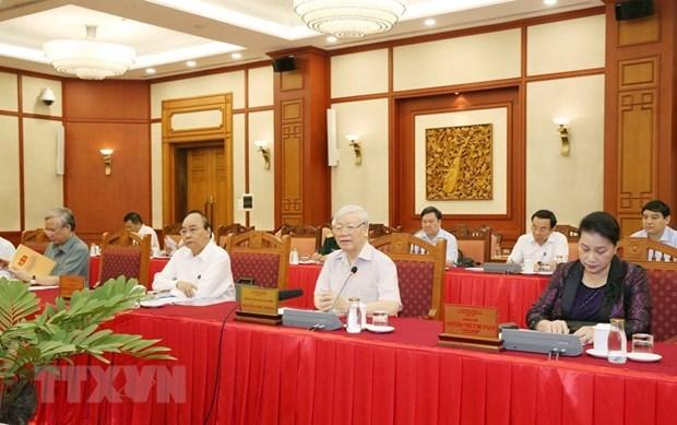 Buro Politico cumple su agenda de trabajo con comites partidistas del mandato 2020-2025 hinh anh 1