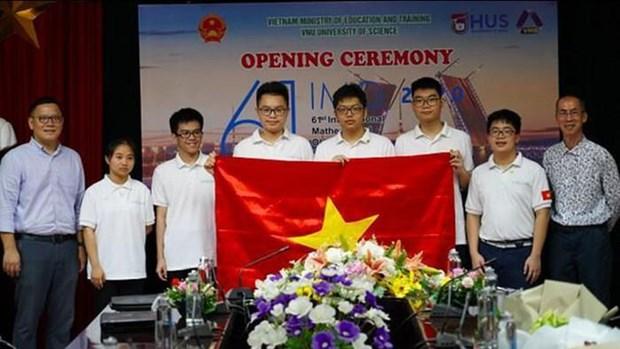 Vietnam gana cinco medallas en Olimpiada Internacional de Matematicas 2020 hinh anh 1