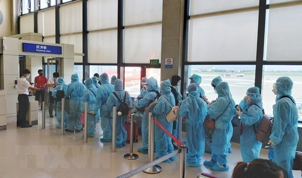 Repatrian a 350 ciudadanos vietnamitas desde Estados Unidos y Japon hinh anh 1