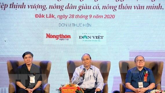 Premier vietnamita dialoga con agricultores de la region Centro-Altiplanicie Occidental hinh anh 1