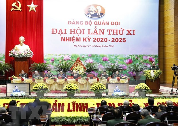 Maximo dirigente de Vietnam llama a establecer un comite partidista ejemplar y fuerte en el Ejercito hinh anh 2