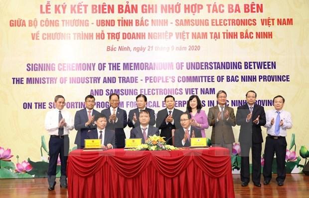 Samsung aumenta la asistencia a empresas en provincia vietnamita de Bac Ninh hinh anh 1