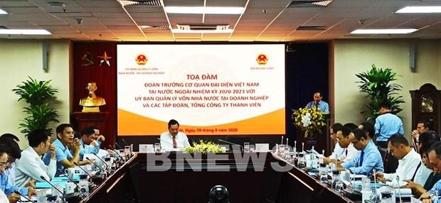 Efectuan coloquio entre jefes de misiones representativas vietnamitas en el exterior y empresas hinh anh 1