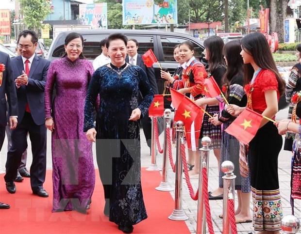 Presidenta del Parlamento vietnamita asiste al V Congreso de Emulacion Patriotica de Thai Nguyen hinh anh 1