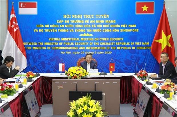 Vietnam y Singapur debaten cooperacion en ciberseguridad hinh anh 1