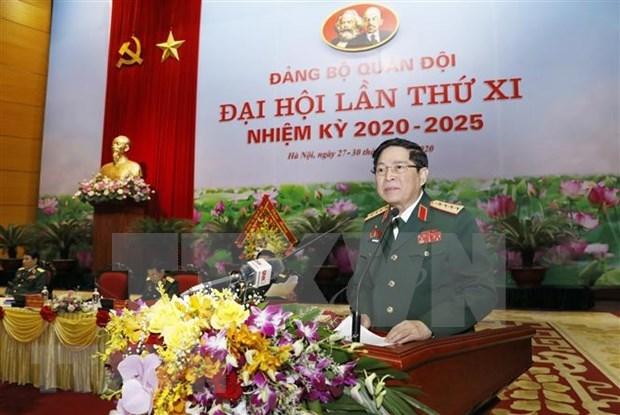Clausuran la Asamblea partidista del Ejercito Popular de Vietnam hinh anh 1