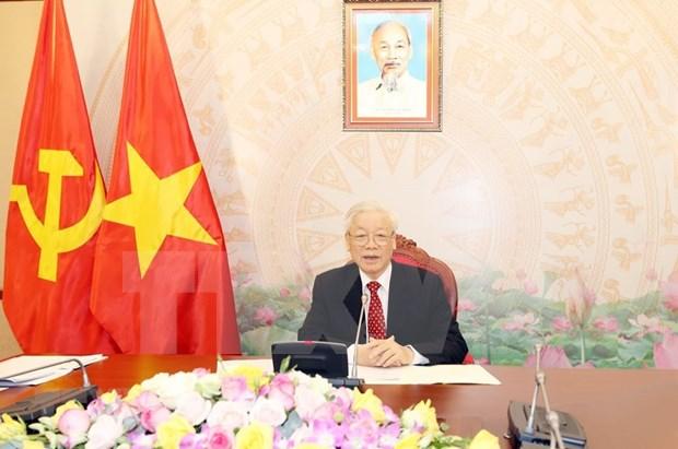 Maximo dirigente de Vietnam sostiene conversaciones con su homologo de China hinh anh 1