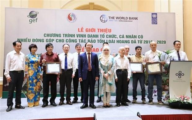 Honran en Vietnam a personas y organizaciones por conservacion de la vida silvestre hinh anh 1