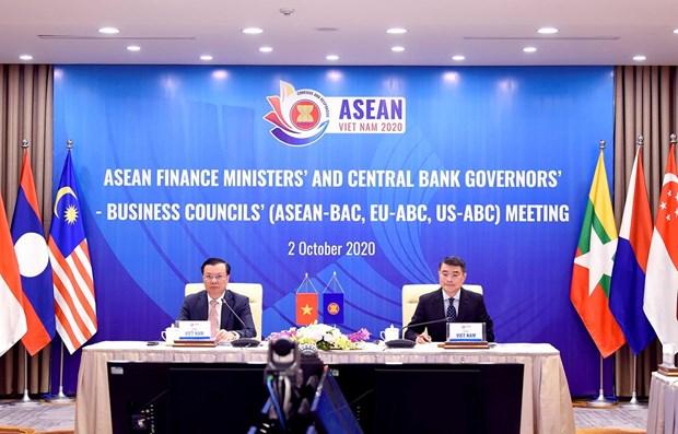 Sesiona XXIV Reunion de Ministros de Finanzas de la ASEAN hinh anh 1